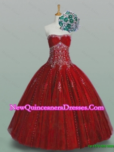 2015 Strapless Sweet 16 Dresses with Beading and Appliques
