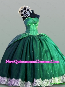 Sweetheart Lace Quinceanera Dresses in Taffeta for 2015