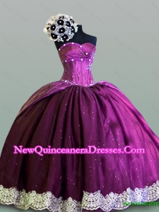 2015 Hot Sweetheart Quinceanera Dresses with Lace