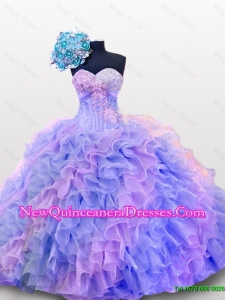 Beaded and Sequins Sweetheart Quinceanera Dresses for 2015