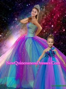 Classical Ball Gown Sweetheart Multi Color Princesita Dresses with Beading