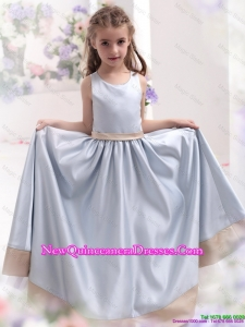 Silver Scoop 2016 Comfortable little Girl Pageant Dresses with Waistband