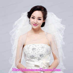 Multi-Tier Pencil Edge Elbow Bridal Veils Whites Bridal Veils