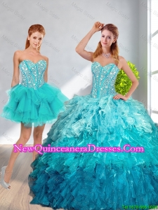 Pretty 2016 Sweetheart Detachable Quinceanera Dresses in Multi Color