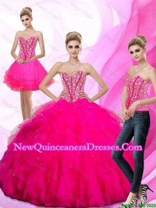 Gorgeous Beading and Ruffles Sweetheart Quinceanera Dresses