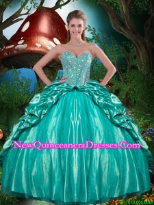 Artistic Beaded and Ruffled Layers Quinceanera Dresses in Taffeta for 2016