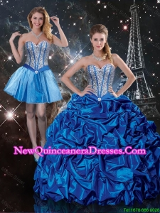 Beautiful Sweetheart Detachable Quinceanera Dresses with Beading and Pick Ups