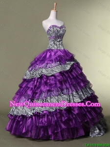 Discount Sweetheart Quinceanera Dresses with Ruffled Layers