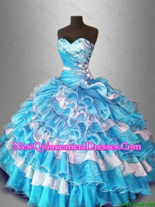 Ball Gown Custom Made Sweet 16 Dresses with Beading and Ruffles