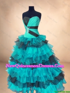 Discount Organza Sweet 16 Gowns with Ruffled Layers