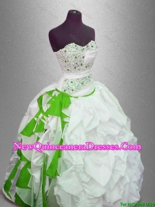 Custom Made Ball Gown Beaded Sweet 16 Gowns with Pick Ups