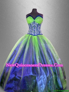 Custom Made Ball Gown Sweet 16 Gowns with Beading and Ruffles