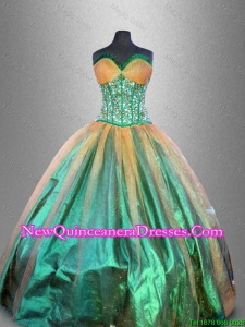 Custom Made Beaded Multi Color Quinceanera Gowns in Multi Color