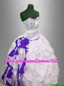 Custom Made Beaded and Pick Ups Quinceanera Gowns in Multi Color