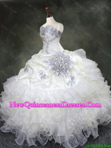Custom Made Ruffled Layers Quinceanera Gowns with Beading and Sequins