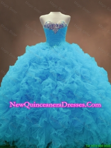 Custom Made Aqua Blue Ball Gown Quinceanera Gowns with Sweetheart