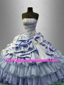 Custom Made Ruffled Layers Sweet 16 Gowns with Pick Ups