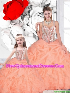 2016 Popular Ball Gown Straps Beaded Macthing Sister Dresses