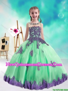2015 Fall New Style Multi Color Mini Quinceanera Dresses with Appliques and Beading