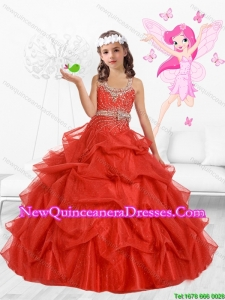 2015 Fall New Style Scoop Mini Quinceanera Dresses with Beading and Bowknot
