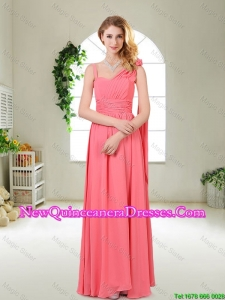 Luxurious Asymmetrical Dama Dresses in Watermelon Red