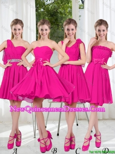 2016 Spring A Line Short Damas Dresses with Ruching