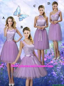 New Style Appliques Tulle Dama Dresses with Knee Length