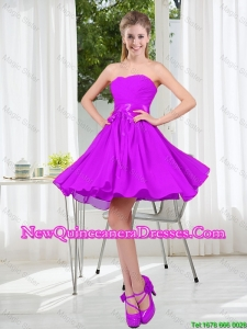 2015 Fall A Line Sweetheart Damas Dresses