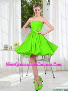 2016 Summer A Line Sweetheart Damas Dresses in Spring Green