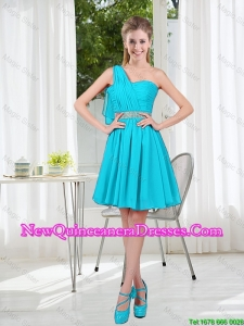 Beautiful A Line One Shoulder Damas Dresses for Party