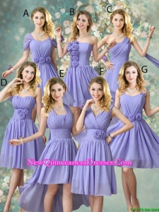 Fashionable Hand Made Flowers Dama Dresses with A Line