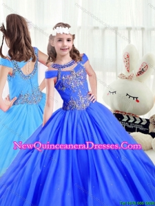 Latest Beading Off the Shoulder Little Girl Pageant Dresses