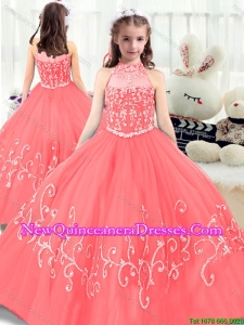 Perfect Beading High Neck 2016 Little Girl Pageant Dresses