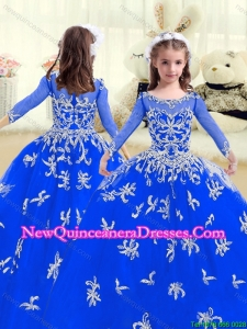 Cheap Beading and Appliques Cute Little Girl Pageant Dresses