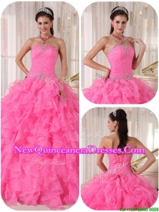 2016 Exclusive Ball Gown Strapless Sweet 16 Gowns with Beading