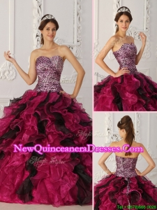 2016 Perfect Sweetheart Ruffles Quinceanera Dresses in Multi Color