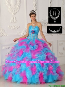 Elegant Perfect Multi Color Ball Gown Quinceanera Dresses with Appliques