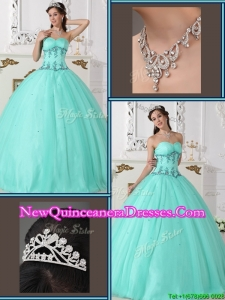 Modern Beading Sweetheart Quinceanera Gowns in Green