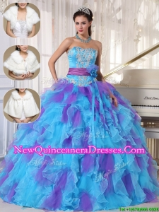 Luxurious Strapless Quinceanera Gowns with Beading and Appliques