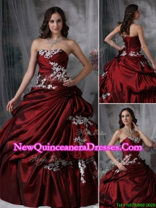 2016 Elegant Ball Gown Strapless Appliques New Style Quinceanera Dresses