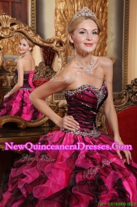 Latest Ball Gown Sweetheart Beading and Ruffles Quinceanera Dresses
