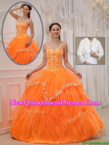 Luxurious Ball Gown Sweet 15 Dresses with Appliques and Beading