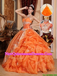 New Style Exclusive Orange Red Ball Gown Quinceanera Dresses with Beading