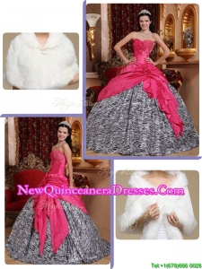 Simple Hot Pink Ball Gown Sweetheart Pretty Sweet 15 Dresses