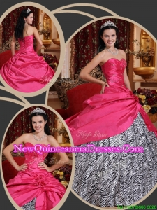 2016 Top Seller Inexpensive Ball Gown Sweetheart Quinceanera Dresses in Hot Pink