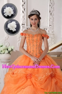 Top Seller Fashionable Off The Shoulder Quinceanera Dresses in Orange