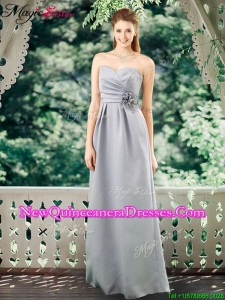 Romantic Empire Sweetheart Dama Dresses with Hand Made Flowers