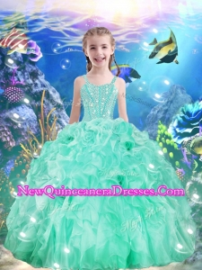 Beautiful Ball Gowns Straps 2016 Little Girl Pageant Dresses with Beading