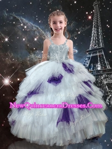 Fashionable Ball Gown Ruffled Layers Little Girl Pageant Dresses in Multi Color