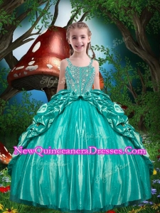 Pretty Straps Beading 2016 Little Girl Pageant Dresses